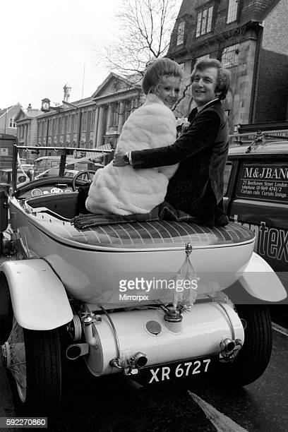 The bride wore a white mini dress and coat, and the couple drove off after the ceremony to a small lunch reception in a white 1923 Rolls Royce. The...