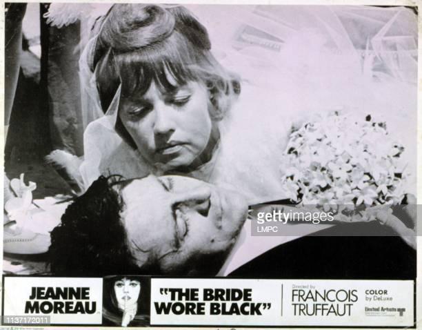 The Bride Wore Black lobbycard Jeanne Moreau Serge Rousseau 1968