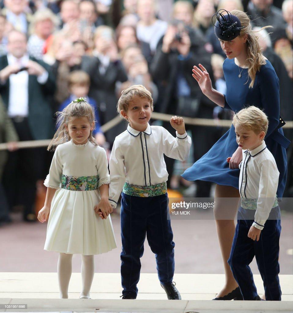 BRITAIN-ROYALS-WEDDING-EUGENIE : News Photo