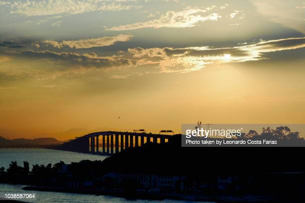 the bridge at the sunset - leonardo costa farias stock photos and pictures