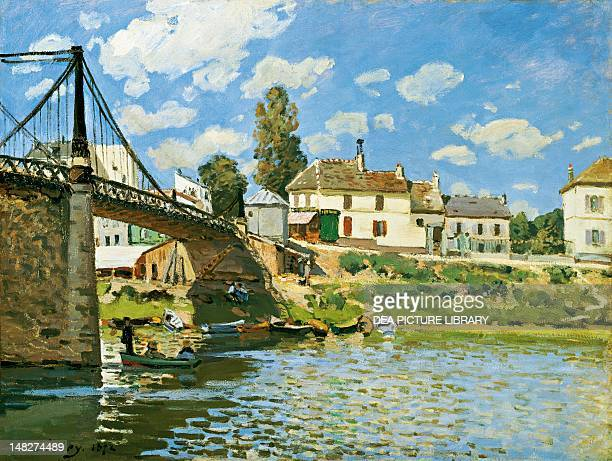 The Bridge at VilleneuvelaGarenne by Alfred Sisley New York The Metropolitan Museum Of Art