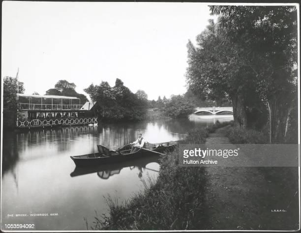 The Bridge At Weybridge circa 1890s Weybridge