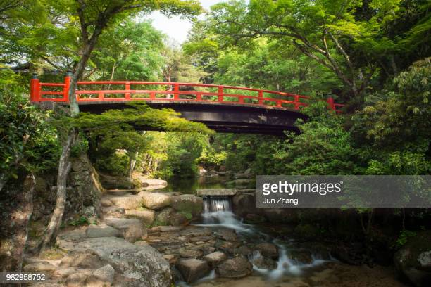 The bridge in Momijidani Park, Miyajima, Japan