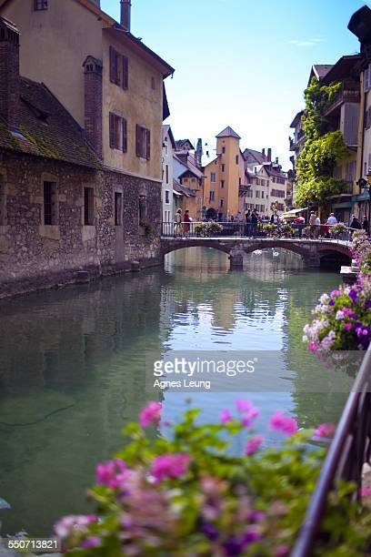 The bridge next to the prison of Annecy, France