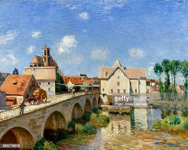 The Bridge of Moret in 1893 Painting by Alfred Sisley 1893 073 x 092 m Orsay museum Paris