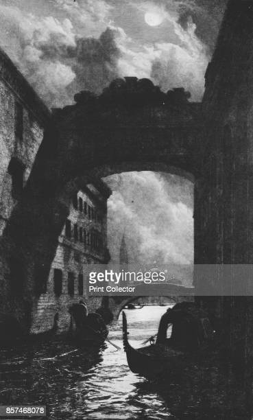 The Bridge of Sighs' circa 1880 The Bridge of Sighs Venice Italy is an enclosed bridge that passes over the Rio di Palazzo and connects the New...