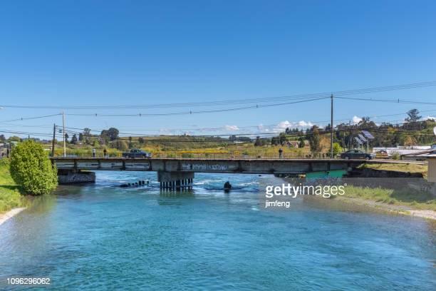 The Bridge on Maullin river in Los Lagos Region,Chile