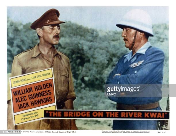 The Bridge On The River Kwai, lobbycard, from left, Alec Guinness, Sessue Hayakawa, 1957.