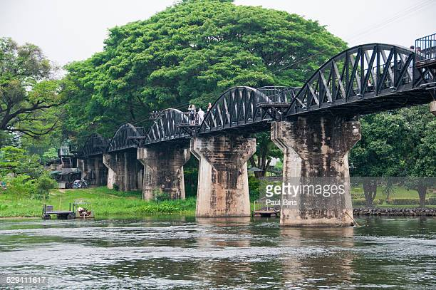 the bridge on the river kwai,thailand - bridge over the river kwai stock pictures, royalty-free photos & images