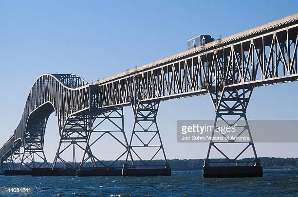 The bridge over Chesapeake Bay Lucius J Kellam Jr BridgeTunnel Virginia