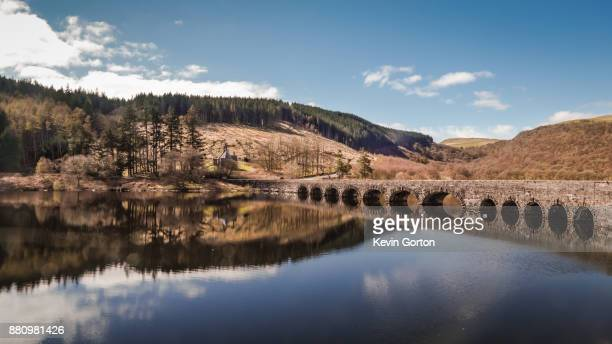 the bridge over talybont reservoir - brecon beacons stock pictures, royalty-free photos & images