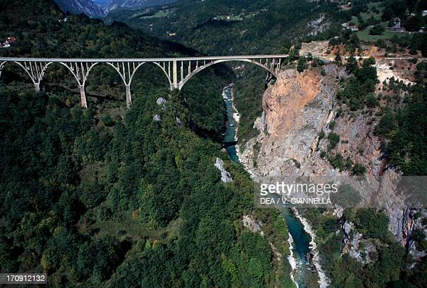 The bridge over the Tara River near Durdevica Durmitor National Park Montenegro