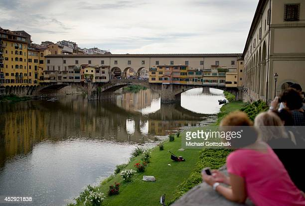 The bridge Ponte Vecchio on July 21 2014 in Florence Italy