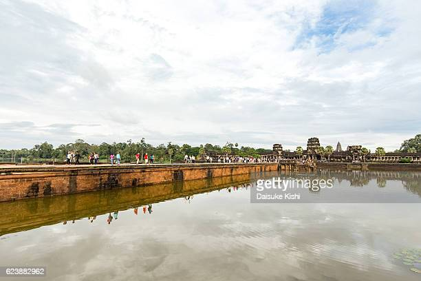 The bridge to Angkor Wat, Cambodia