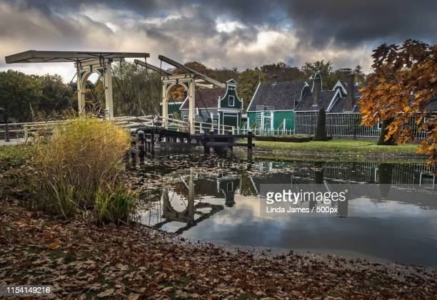 the bridge to the village - gelderland stock pictures, royalty-free photos & images