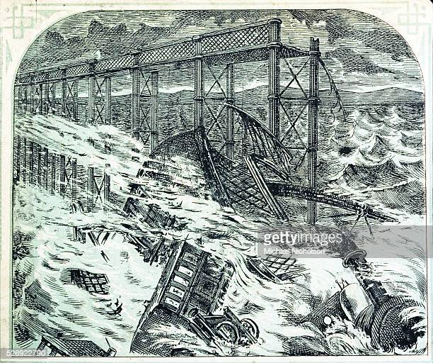 The bridge which had been opened in the summer of the previous year collapsed in a storm on the night of December 28 killing the entire crew and all...