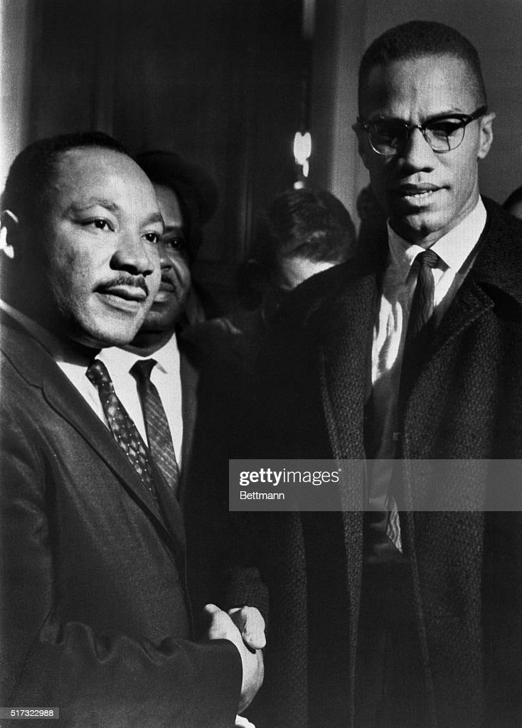 Malcolm X Meets Dr. Martin Luther King : News Photo