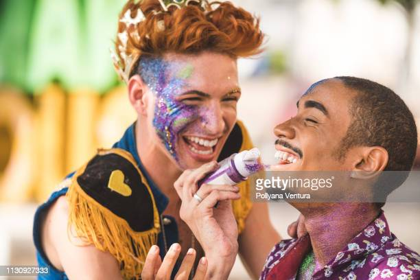 the bright colors of carnival - mardi gras stock pictures, royalty-free photos & images