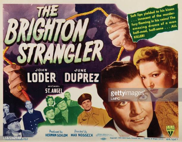 The Brighton Strangler lobbycard from left John Loder June Duprez 1945