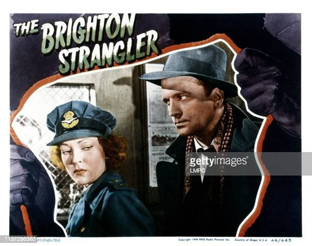 The Brighton Strangler lobbycard from left June Duprez John Loder 1945