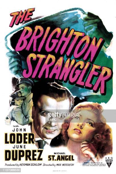 The Brighton Strangler poster US poster from left John Loder June Duprez 1945