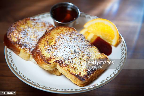 The brioche French toast at Tamper Cafe in Medford Mass
