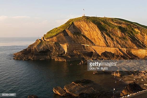 The Bristol channel and Capstone promontory Ilfracombe England United Kingdom