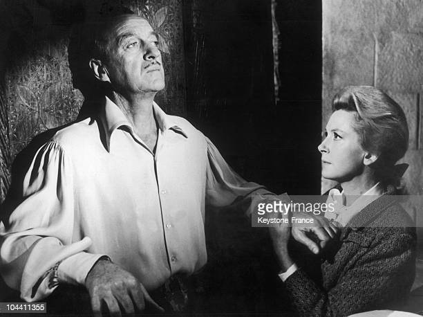 The British actors David NIVEN and Deborah KERR in a scene from JohnLee THOMPSON's film THE EYE OF THE DEVIL