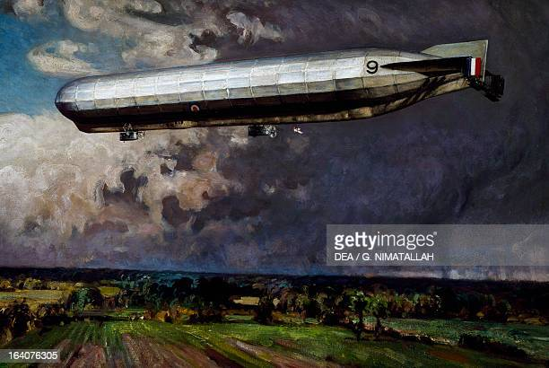 The British airship Hma 9 painting by Alfred Egerton Cooper Britain 20th century London Imperial War Museum