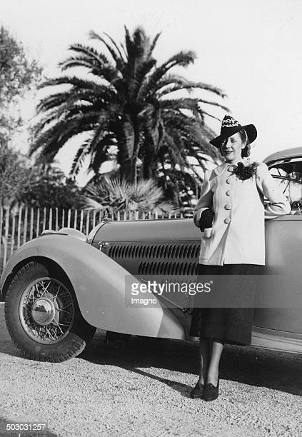 The British Airways pilot Amy Johnson in Cannes 23th February 1938 Photograph