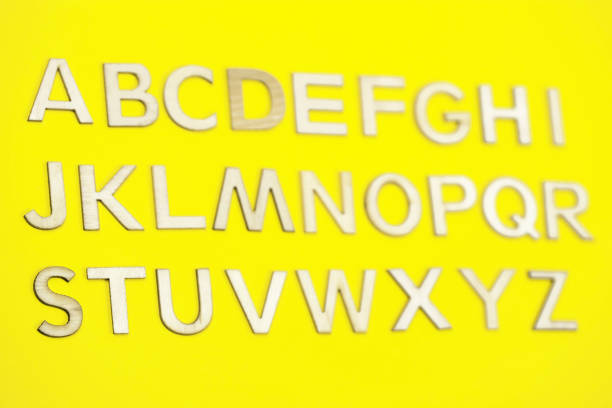 The British alphabet letters