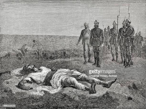 The British Army Find Tewodros's Body After His Suicide. Tewodros Ii, Baptized Theodore Ii C. 1818 To 1868. Emperor Of Ethiopia. From El Mundo En La...
