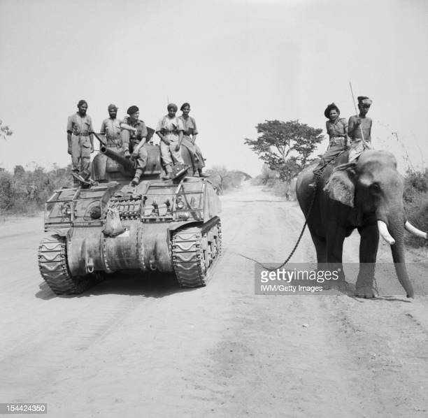 The British Army In Burma March 1945 The British commander and Indian crew of a Sherman tank of the 9th Royal Deccan Horse 255th Indian Tank Brigade...