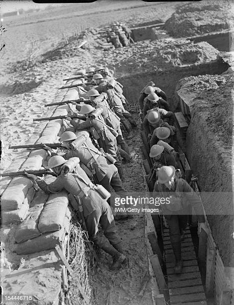 The British Army In France 1939 Troops from the Royal Berkshire Regiment manning trenches near Mouchin 29 November 1939