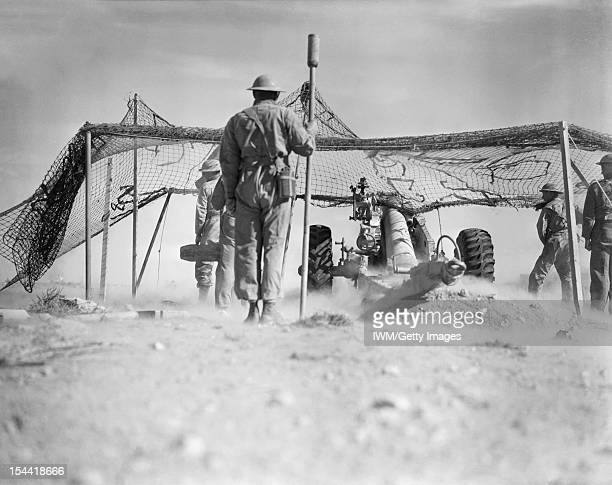 The British Army In North Africa 1940 A 72inch howitzer in action during the attack on Bardia 31 December 1940