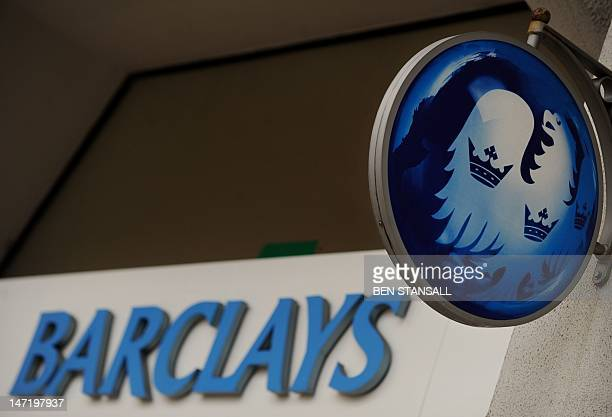 The British Barclays bank logo is seen on a branch in central London on February 15 2011 Barclays said today its 2010 net profit rose a third to over...
