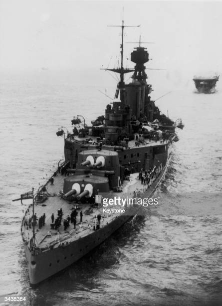 The British battle cruiser HMS Hood which was sunk by the Bismarck on the 24th May 1941