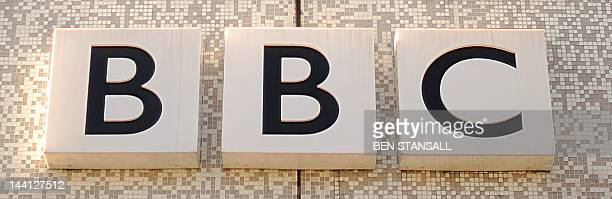 The British Broadcasting Corporation logo is pictured at the Television Centre in White City west London on March 2 2010 The British Broadcasting...