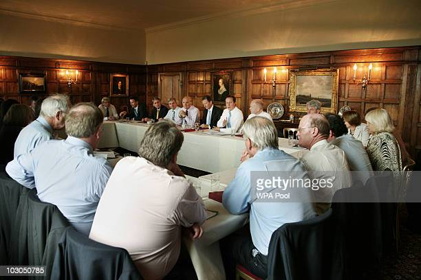 The British cabinet meets at Chequers the Prime Minister's country residence on July 23 2010 in Buckinghamshire England The cabinet was expected to...