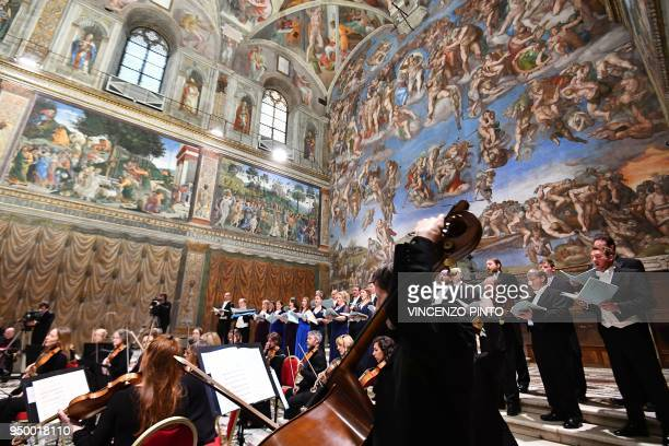 The British choir perform the sir James MacMillians Stabat Mater conduct by British composer Harry Christophers in a concert live streamed for the...