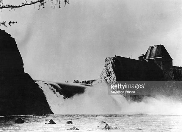 The British 'Dam Busters' planes bombing the German dams they destroyed the Moehne dam in 1945 Germany