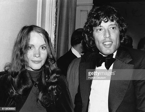 The British dramatist Tom Stoppard with Tisa Farrow, 1974. Miss Farrow is the sister of American actress Mia Farrow.