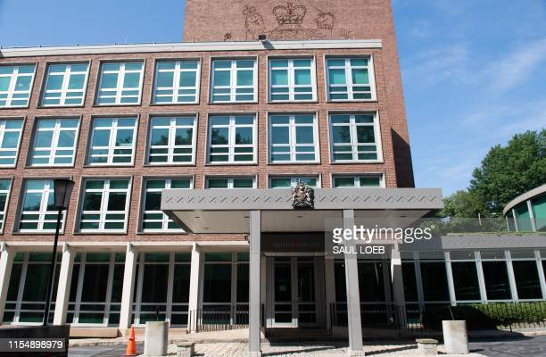 The British Embassy is seen in Washington, DC, July 10 following the resignation of British Ambassador to the US Kim Darroch, after US President...