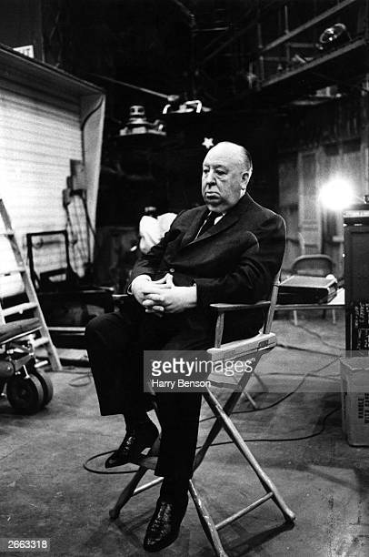 The British film director Alfred Hitchcock taking a break from the making of the film 'Topaz' Original Publication People Disc HE0190