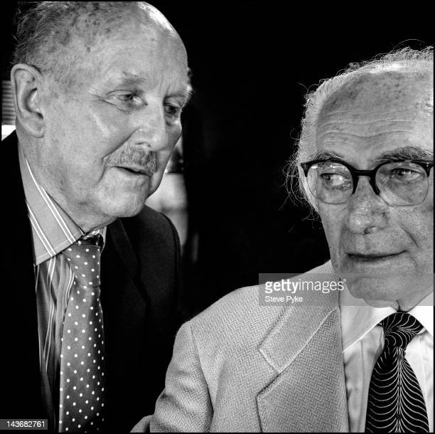 The British filmmaking team of Michael Powell and Emeric Pressburger of Archers Film Productions London 28th July 1985
