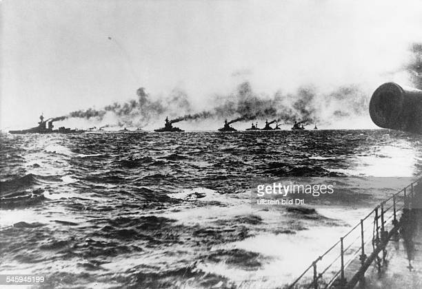 The British 'Grand Fleet' is on her way to take part in the naval battle