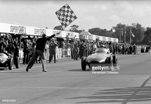 The British Grand Prix Aintree July 20 1957 A great day Stirling Moss's first British GP victory in a British car the first GP win by a British car...