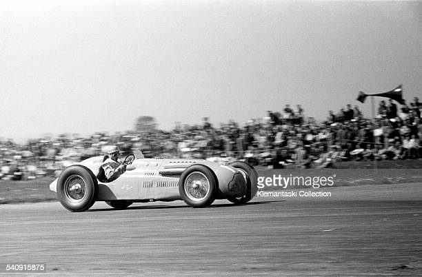 The British Grand Prix; Silverstone, May 13, 1950. This was the first GP of the modern F.1 era. Here is one of the French competitors, Eugène Martin...
