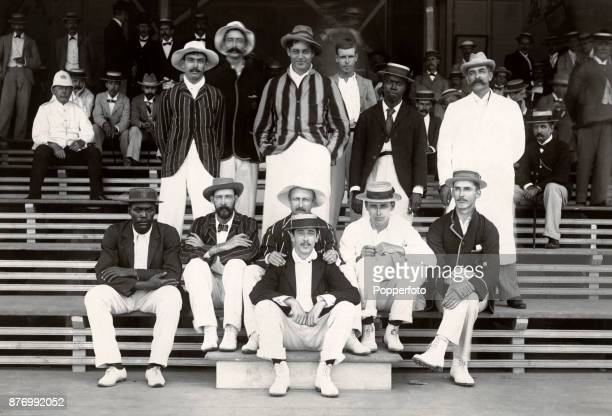 The British Guyana cricket team winners of the InterContinental Tournament at Georgetown circa 1895