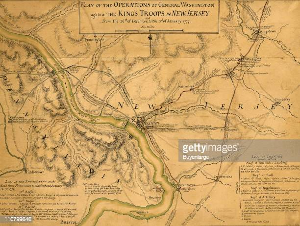 The British in the vicinity of Fort Lee New Jersey late December or early January 1777